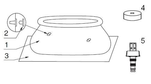 Pièces de rechange pour piscine gonflable Intex - Easy Set - 1.83 x 0.51 m - 28101NP