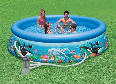 Piscine gonflable Intex Aquarium Easy Set 3.66 x 0.76 m