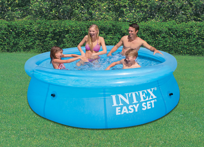 Piscine gonflable Intex Transparent Easy Set 3.05 x 0.76m 28120NP