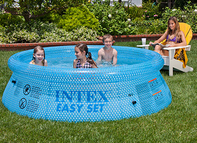 Piscine gonflable Intex Transparent Easy Set 2.44 x 0.76m 28110NP