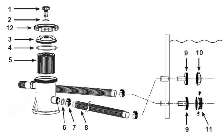 Filtre à cartouche pour piscine gonflable Intex - Modèle 602 - Krystal Clear - 28602FR
