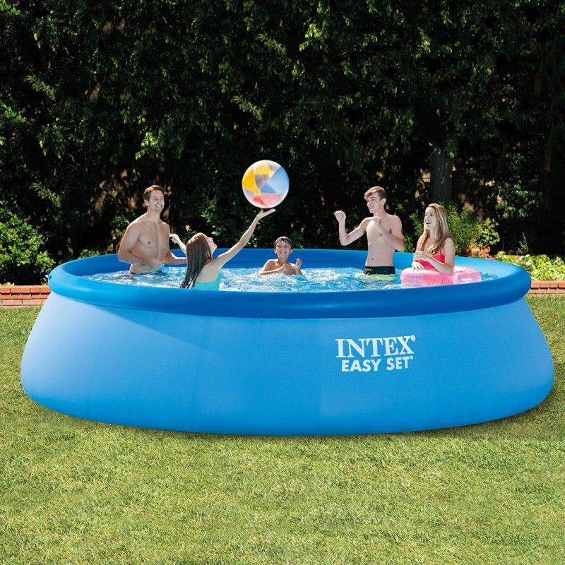 Plan de la piscine Intex Easy Set 26166NP - 457 cm x 107 cm avec filtre - Piscine-gonflable.com